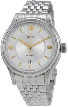 Oris Classic Date Silver Dial Stainless Steel Automatic Men's Watch 733-7719-4071MB