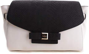 Kate Spade Cement & Black Shantel Montrose Place Leather Shoulder Bag