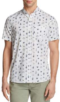 Michael Bastian Ocean Matters Print Short Sleeve Button-Down Shirt