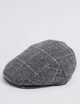 Marks and Spencer Pure Wool ThinsulateTM Flat Cap with StormwearTM