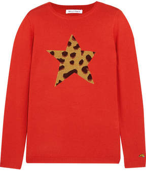 Bella Freud Iggy Leopard Wool-blend Sweater - Red