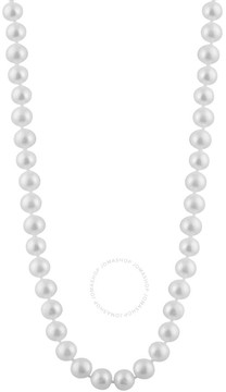 Bella Pearl Single Strand White Freshwater Pearl 24 Necklace