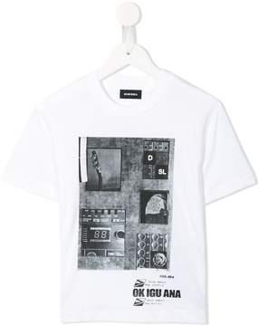 Diesel music studio print T-shirt