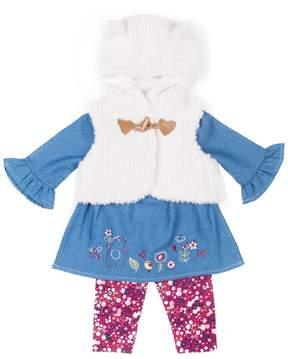 Little Lass Baby Girl Plush Vest