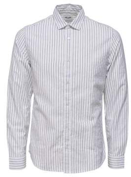 ONLY & SONS Striped Cotton Casual Button-Down Shirt