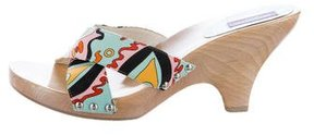 Emilio Pucci Abstract Print Slide Sandals