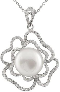 Bella Pearl Fancy Sterling Silver Freshwater Pearl Pendant