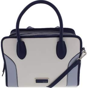 Nine West Womens Suit Reboot Faux Leather Colorblock Satchel Handbag