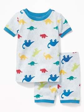 Old Navy Dinosaur-Camo Print Sleep Set for Toddler Boys & Baby