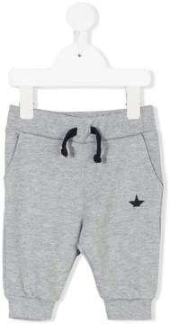 Macchia J Kids half star logo print track pants