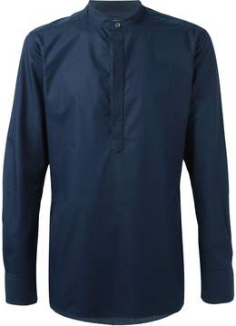 E. Tautz slim fit grandad collar shirt