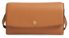 Tory Burch Women's Leather Wallet Crossbody Bag - Brown - BLUE - STYLE