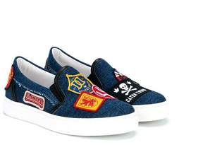 DSQUARED2 patch-appliqué slip-on sneakers