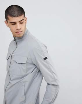 Barbour International Zip Through Casual Jacket in Gray
