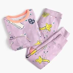 J.Crew Kids' pajama set in milk and cookies
