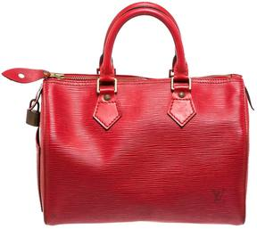 Louis Vuitton Speedy leather satchel - RED - STYLE