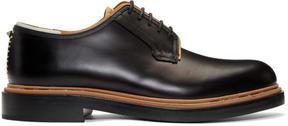 Valentino Black Garavani Leather Runway Derbys