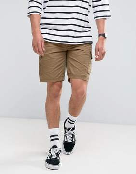 Pull&Bear Cargo Shorts In Tan