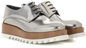 Jil Sander Platform leather derby shoes