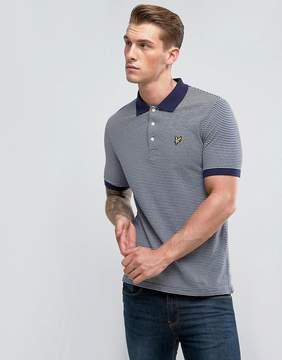 Lyle & Scott Stripe Logo Polo Shirt Navy