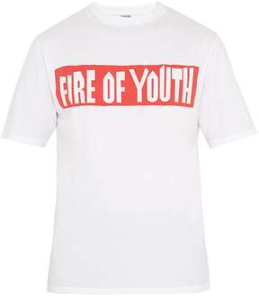 Loewe Text-print cotton T-shirt
