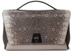 Akris Anouk Leather & Lizard Day Bag