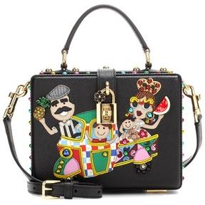 Dolce & Gabbana Dolce Box embellished leather shoulder bag