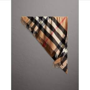 Burberry The Bandana in Check Cashmere