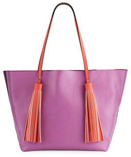 Neiman Marcus Sayulita Tassel Shoulder Tote Bag