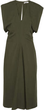 Jil Sander Wool Midi Dress - Army green