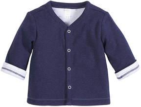 Petit Lem Blue Button-Up Cardigan - Infant