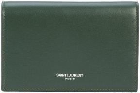 Saint Laurent Fragments flap wallet - GREEN - STYLE