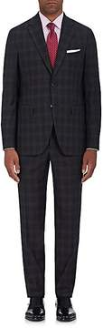 Boglioli Men's Plaid Virgin Wool Two-Button Suit