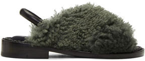 Robert Clergerie Green Bloss Sandals