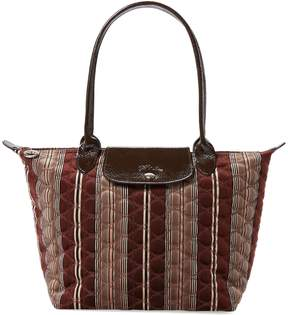 Longchamp Women's Medium Printed Long Handle Tote - BROWN - STYLE