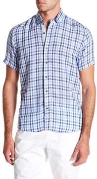 Report Collection Alternating Short Sleeve Slim Fit Linen Shirt