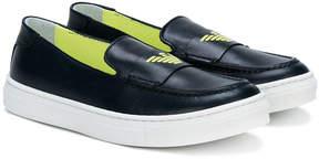 Emporio Armani Kids laceless logo sneakers