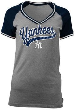 5th & Ocean Women's New York Yankees Rhinestone Night T-Shirt