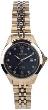Croton N/A Mens Silver Tone Bracelet Watch-Cx328038ssyl