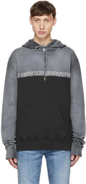 Saint Laurent Grey Love Me Forever Or Never Hoodie