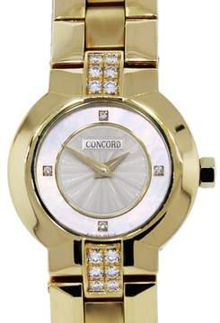 Concord 18K Yellow Gold Diamond Quartz 24mm Womens Watch
