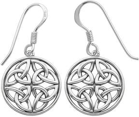 Celtic FINE JEWELRY Sterling Silver Circle Drop Earrings