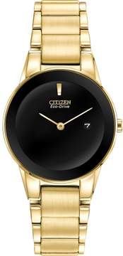 Citizen GA105255E / GA1052-55E Womens Axiom Eco-Drive Gold-Tone Stainless Steel Watch