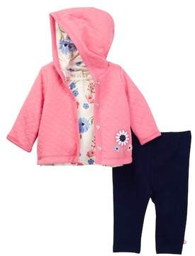 Offspring Mixed Bouquet Reversible Jacket Set - 3-Piece Set (Baby Girls)
