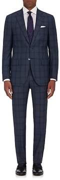 Isaia Men's Sanita Dégradé Checked Wool Two-Button Suit