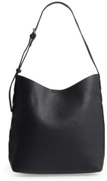Sole Society Samara Faux Leather Shoulder Bag - Black