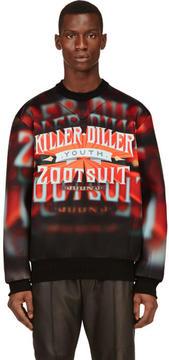 Juun.J Red and Orange Neoprene Killer Diller Sweatshirt