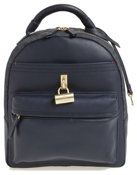 ED Ellen Degeneres Brody Leather Backpack - Blue
