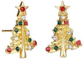 Alpha A A Christmas Gold Tone Misle Toe Earrings