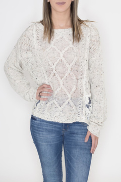 Flying Tomato Lace Panel Sweater